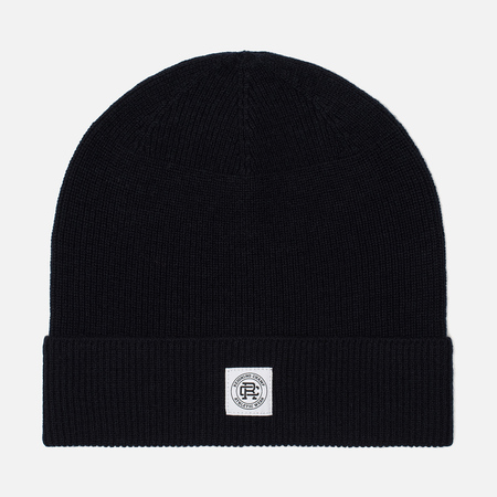 Мужская шапка Reigning Champ Knit Merino Wool Classic Beanie Navy