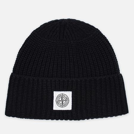 Stone Island Ribbed Men's Hat Black