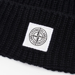 Мужская шапка Stone Island Ribbed Black фото- 1