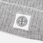 Мужская шапка Stone Island Ribbed Grey фото- 1