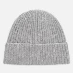 Мужская шапка Stone Island Ribbed Grey фото- 3