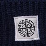 Мужская шапка Stone Island Ribbed Wool Hood Marine Blue фото- 1