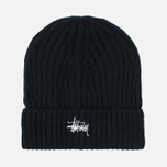 Stussy Basic Stock Cuff Beanie Men's Hat Black photo- 0