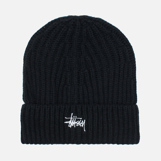 Stussy Basic Stock Cuff Beanie Men's Hat Black