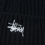 Stussy Basic Stock Cuff Beanie Men's Hat Black photo- 1