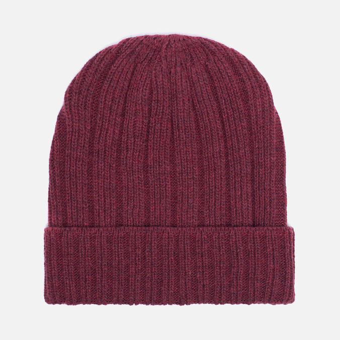 Мужская шапка The Hill-Side Knit Irish Wool Brick Red