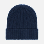 Мужская шапка The Hill-Side Knit Irish Wool Navy фото- 0