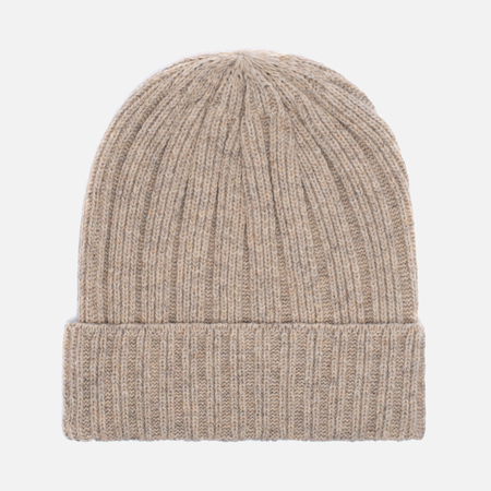 Мужская шапка The Hill-Side Knit Irish Wool Oatmeal Grey
