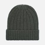 Мужская шапка The Hill-Side Knit Irish Wool Olive фото- 0