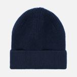Мужская шапка Universal Works Beanie Lamgora Wool Navy фото- 0