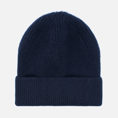 Мужская шапка Universal Works Beanie Lamgora Wool Navy