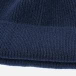 Мужская шапка Universal Works Beanie Lamgora Wool Navy фото- 1