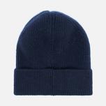 Мужская шапка Universal Works Beanie Lamgora Wool Navy фото- 2