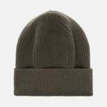 Мужская шапка Universal Works Beanie Lamgora Wool Olive фото- 0