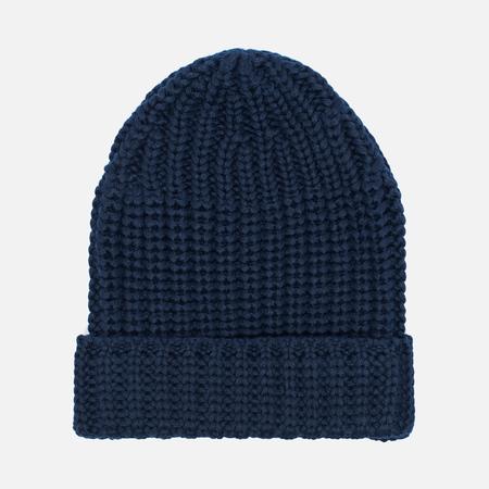 Universal Works Beanie Merino Rib Men's hat Navy