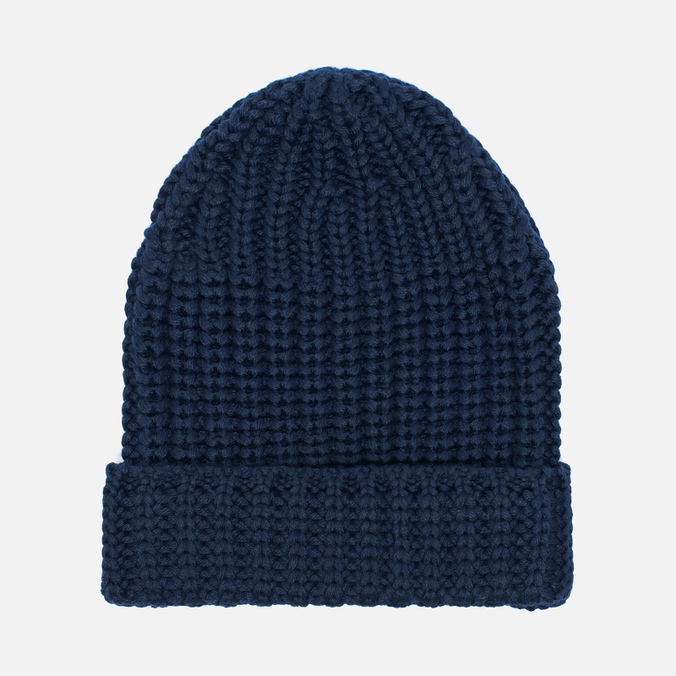 Мужская шапка Universal Works Beanie Merino Rib Navy