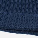 Мужская шапка Universal Works Beanie Merino Rib Navy фото- 1