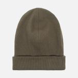 Мужская шапка Universal Works Beanie Rib Cotton Military Olive фото- 0