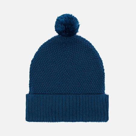 Universal Works Bobble Moss Stitch Men's Hat Blue