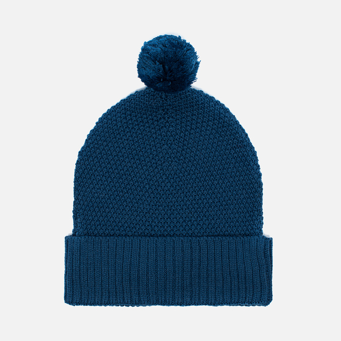 Universal Works Bobble Moss Stitch Men's Hat Blue