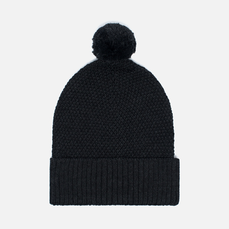Universal Works Bobble Moss Stitch Men's Hat Charcoal