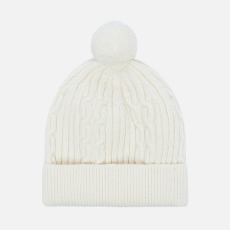 Universal Works Bobble Soft Wool Cable Men's Hat Ecru