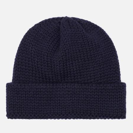Мужская шапка Universal Works Short Watch British Wool Navy