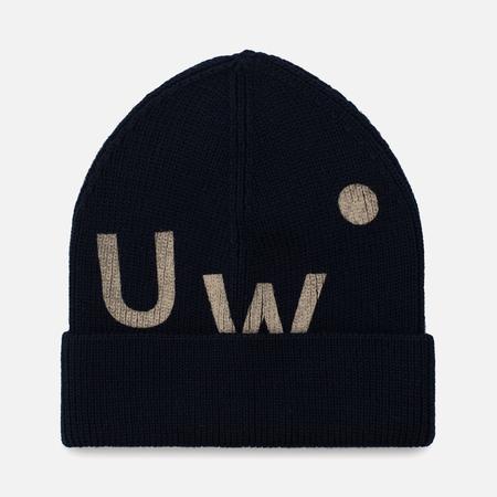 Мужская шапка Universal Works UW Beanie Merino Rib Navy