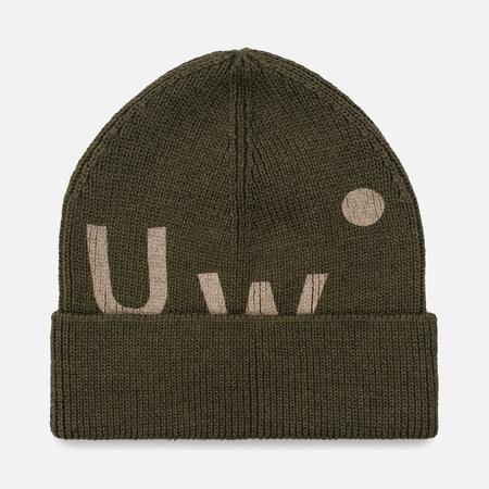 Мужская шапка Universal Works UW Beanie Merino Rib Olive