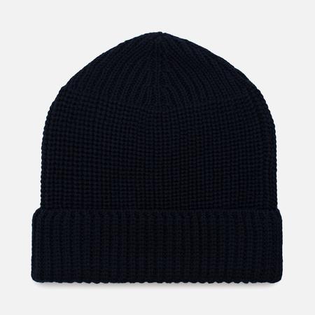 Мужская шапка Universal Works Watch Merino Rib Navy