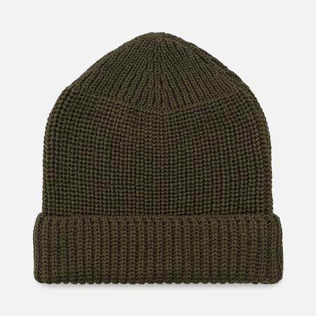 Мужская шапка Universal Works Watch Merino Rib Olive