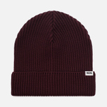 Мужская шапка Wood Wood Henry Ribbed Beanie Burgundy фото- 0