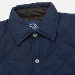 Мужская стеганая куртка Bleu De Paname Tankist Indigo фото- 2