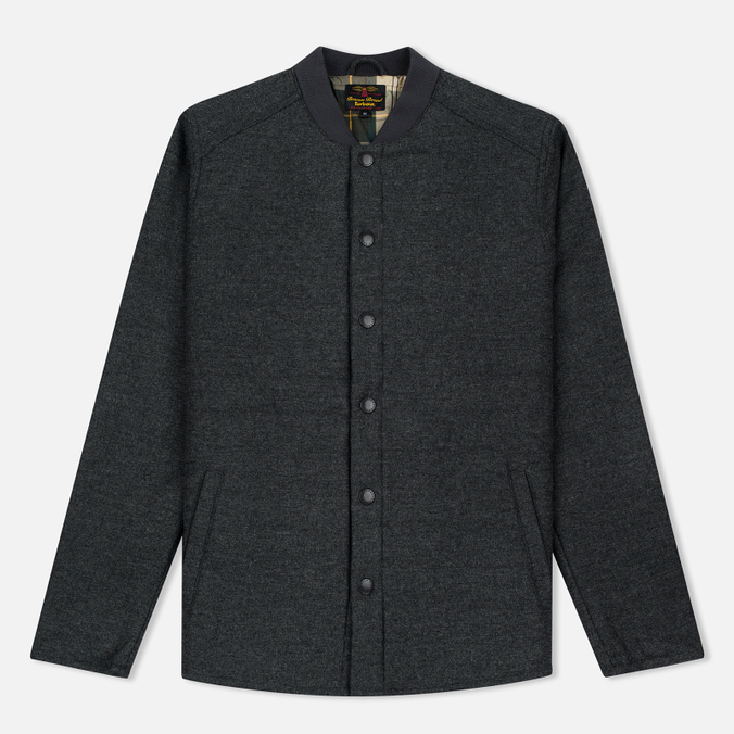 Мужская теплая рубашка Barbour Ruthwell Overshirt Grey Marl Wool
