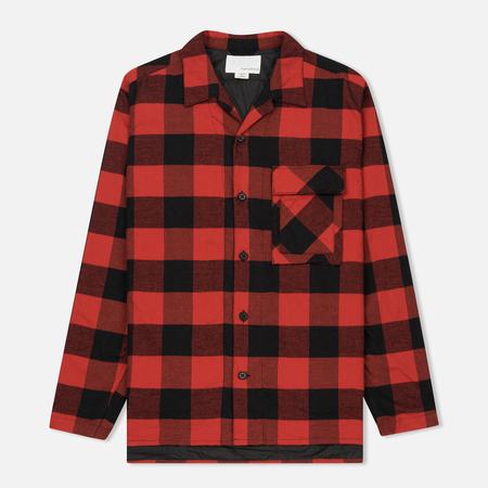 Мужская теплая рубашка Nanamica Buffalo Check Red/Black