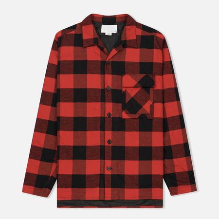 Мужская теплая рубашка Nanamica Buffalo Check Red/Black