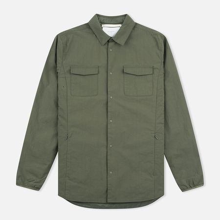 Мужская теплая рубашка Norse Projects Jens Ripstop Nylon Dried Olive