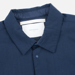 Мужская теплая рубашка Norse Projects Jens Ripstop Nylon Navy фото- 2