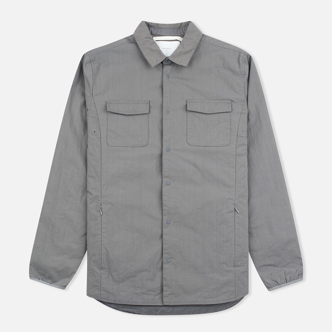 Мужская теплая рубашка Norse Projects Jens Ripstop Nylon Pewter