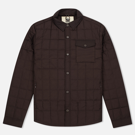 Мужская теплая рубашка Uniformes Generale Nakamura Ultra Light Down Quilted Choc Brown