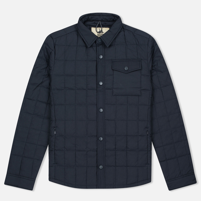 Мужская теплая рубашка Uniformes Generale Nakamura Ultra Light Down Quilted Super Marine Navy