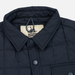 Мужская теплая рубашка Uniformes Generale Nakamura Ultra Light Down Quilted Super Marine Navy фото- 1