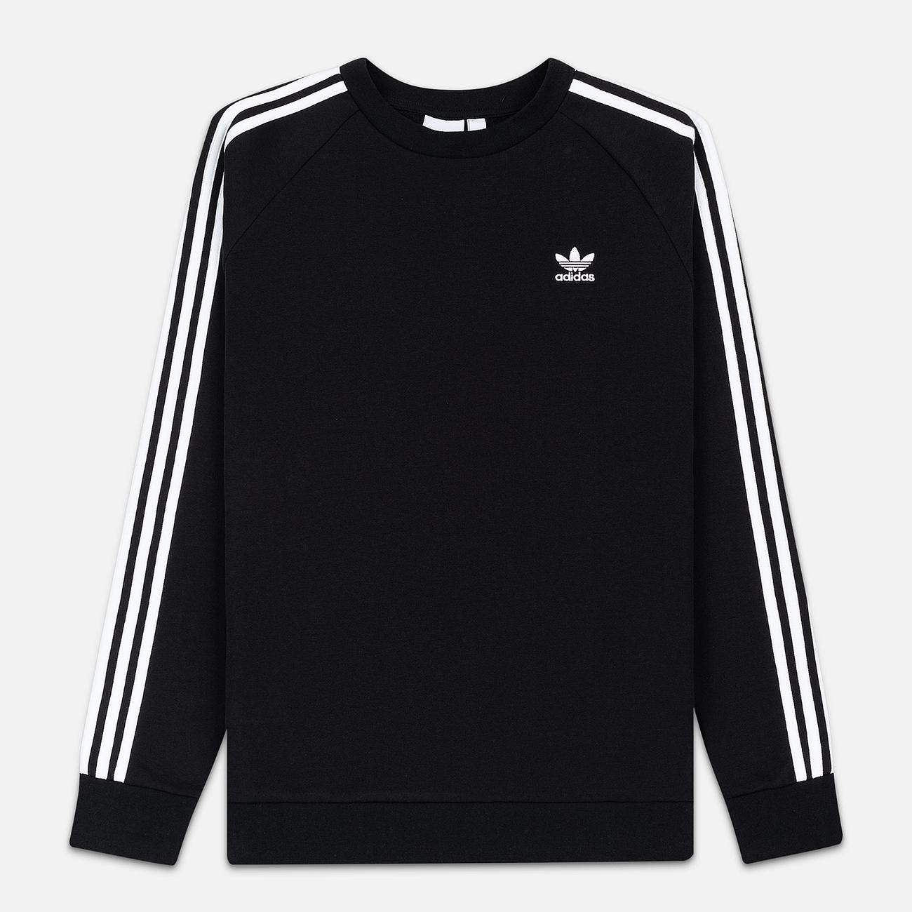 Мужская толстовка adidas Originals 3-Stripes Crew Black