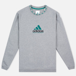 Мужская толстовка adidas Originals EQT Crew Grey/Green/Black фото- 0