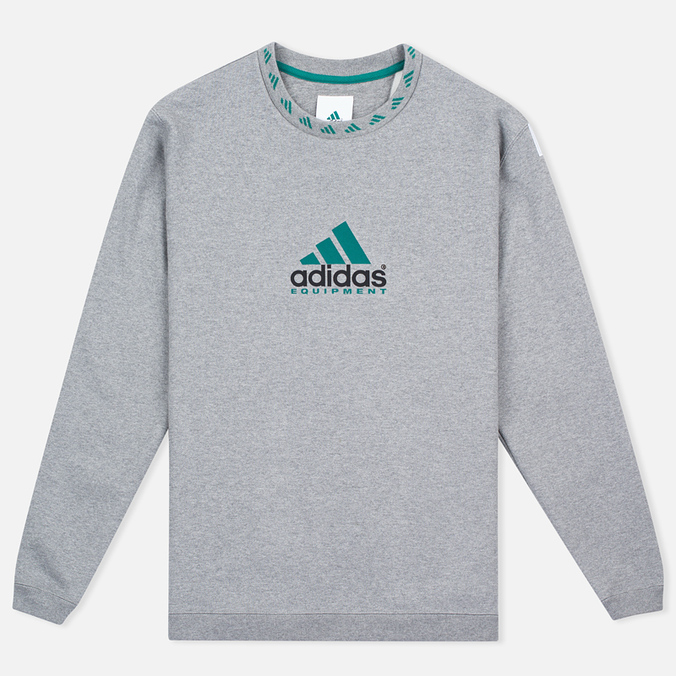 Мужская толстовка adidas Originals EQT Crew Grey/Green/Black