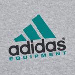 Мужская толстовка adidas Originals EQT Crew Grey/Green/Black фото- 3