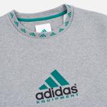 Мужская толстовка adidas Originals EQT Crew Grey/Green/Black фото- 2