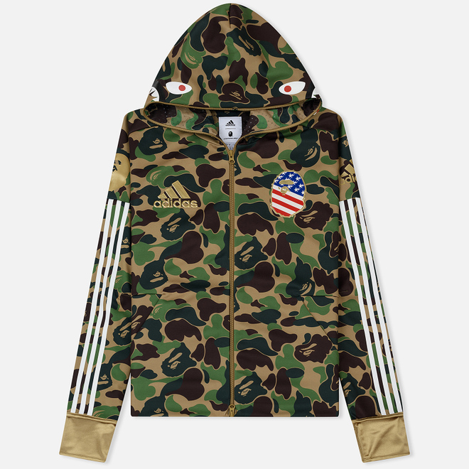 Мужская толстовка adidas x Bape Superbowl Shark Hoodie Multicolor