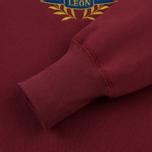 Мужская толстовка Aime Leon Dore Ald Crest Crew Neck Burgundy фото- 3