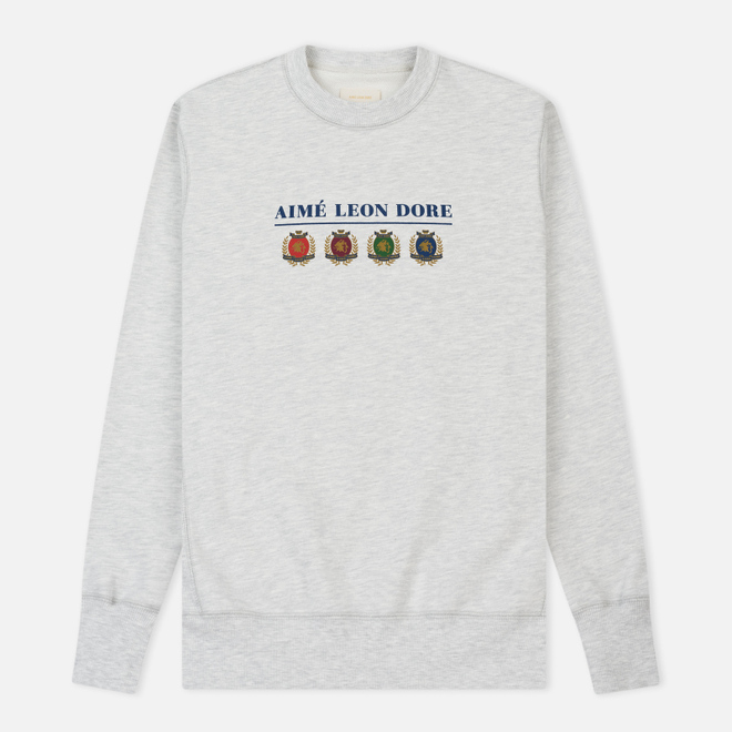 Мужская толстовка Aime Leon Dore Ald Crest & Logo Crew Neck Grey Mix